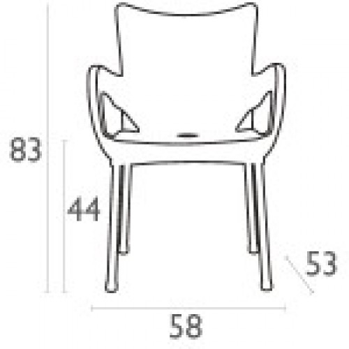 SI-Стол ROMEO(043)БЯЛ